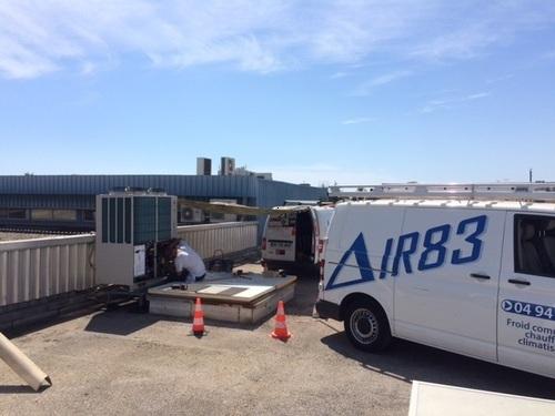 Remplacement rooftop R22 par système DRV MHI Concession FIAT/ALPHA ROMEO LA VALETTE DU VAR