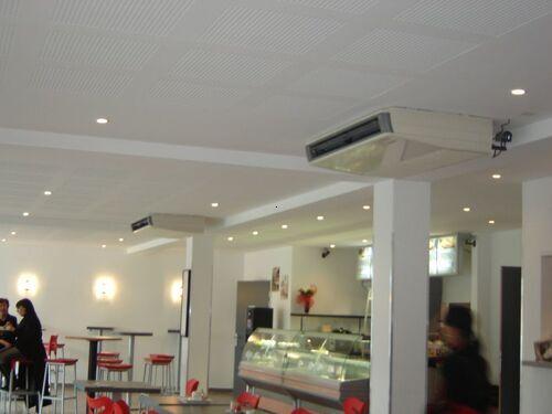 Installation plafonnier au restaurant 324 à Aix-en-Provence